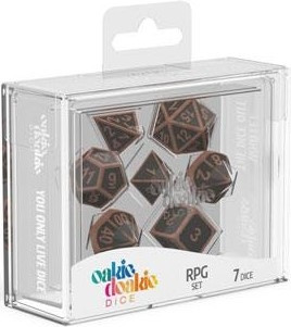 Oakie Doakie Dice - RPG Set Metal Dice Steampunk (7)