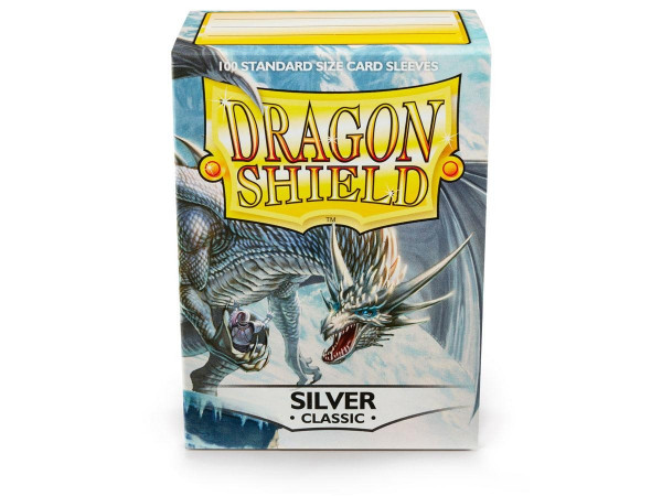 Dragon Shield - Card Sleeves: Classic Silver, Standard Size (100)