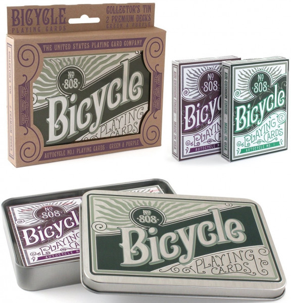 Bicycle Playing Cards - Autocycle No. 1 Playing Cards: Green & Purple
