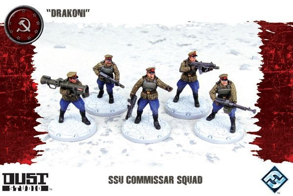 Dust Tactics - SSU Commissar Squad