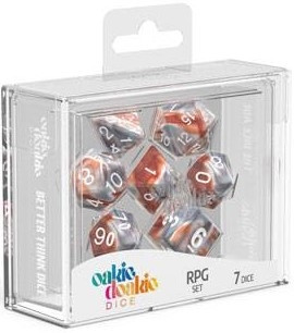 Oakie Doakie Dice - RPG Set Gemidice Silver-Rust (7)
