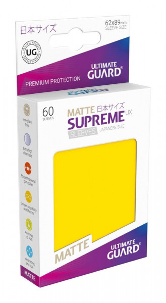 Matte Supreme UX Sleeves - 62x89 (60), yellow