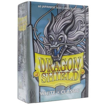 Dragon Shield - Card Sleeves: White Classic, japanese Size (60)