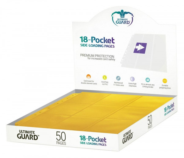18-Pocket Side-Loading Pages (50), Yellow