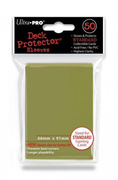 Deck Protector Sleeves - Gold (50)