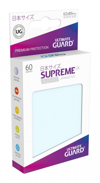 Supreme UX Sleeves - 62x89 (60), transparent
