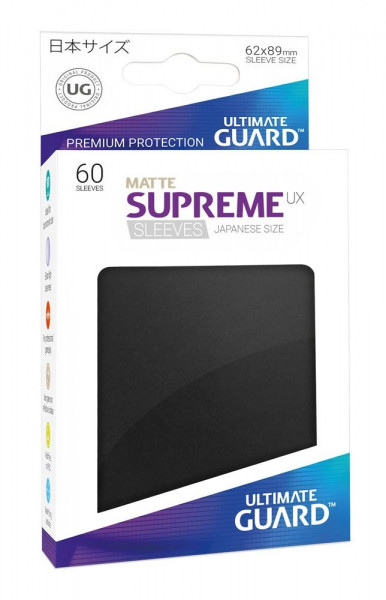 Ultimate Guard - Matte Supreme UX Sleeves 62x89 (60), black