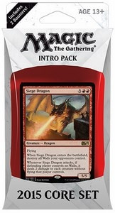 MTG - Intro Pack, 2015 Core Set: Flames of the Dragon (bluered)
