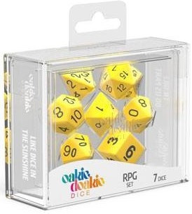 Oakie Doakie Dice - RPG Set Solid Yellow (7)