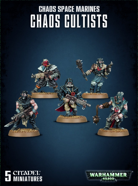 Warhammer 40,000 - Chaos Space Marines: Chaos Cultists (easy to build)