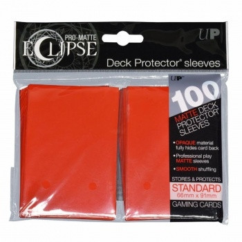 Deck Protector Sleeves - Pro-Matte Eclipse, 66x91 mm (100), red