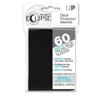 Deck Protector Sleeves - Pro-Matte Eclipse: 62x89 mm, Black (60)