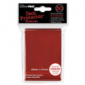 Deck Protector Sleeves - Red (50)