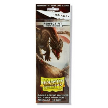 Dragon Shield - Perfect Fit - Sealable Smoked - Standard Size (100)