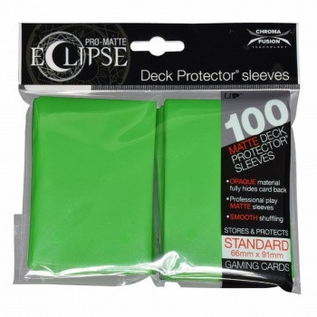 Deck Protector Sleeves - Pro-Matte Eclipse, 66x91 mm (100), lime green