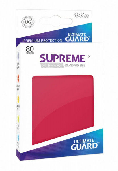 Supreme UX Sleeves - 66x91 (80), red