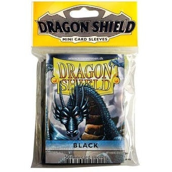Dragon Shield - Mini Card Sleeves: Black (50)