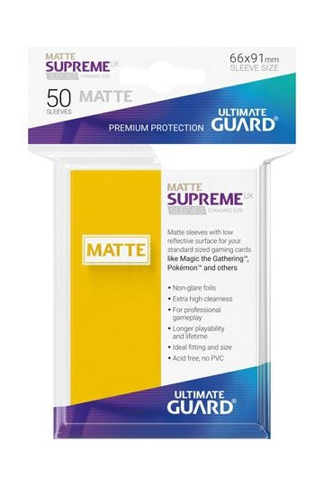 Matte Supreme UX Sleeves - 66x91 mm (50),Yellow