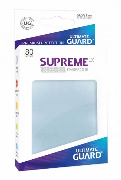 Supreme UX Sleeves - 66x91 (80), transparent