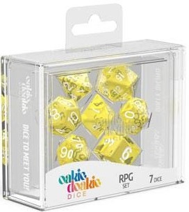 Oakie Doakie Dice - RPG Set Translucent Yellow (7)