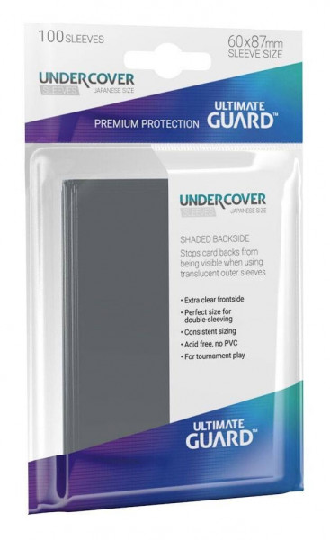 Undercover Sleeves - 60x87 mm (100), Shaded Backside