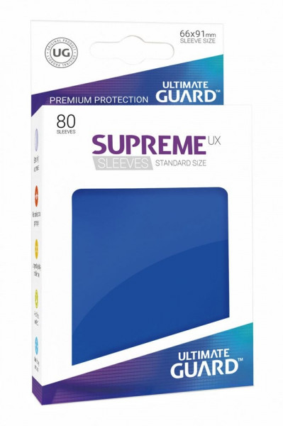 Supreme UX Sleeves - 66x91 (80), blue