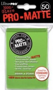 Deck Protector Sleeves - Pro-Matte Sleeves Lime Green (50)