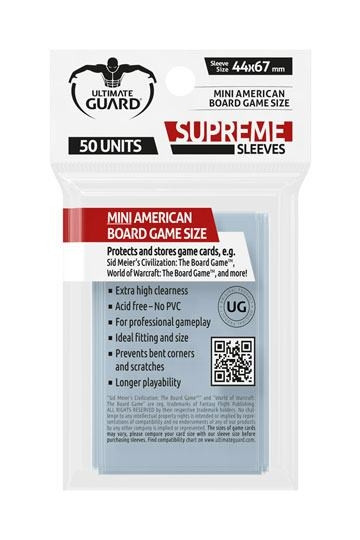 Supreme Sleeves - Mini American: 44x67 mm (50)