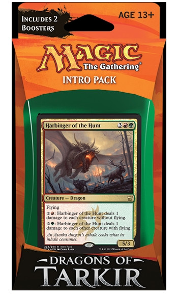 MTG - Intro Pack, Dragons of Tarkir: Furious Forces (redgreen)