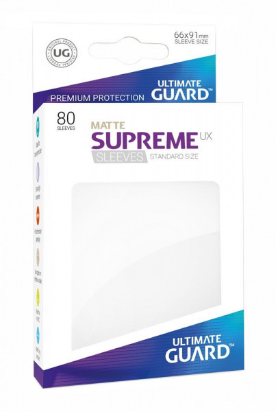 Matte Supreme UX Sleeves - 66x91 (80), White