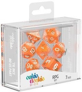 Oakie Doakie Dice - RPG Set Translucent Orange (7)