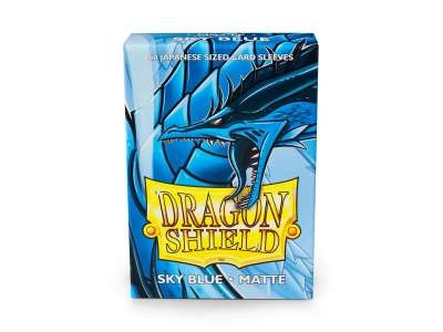 Dragon Shield - Card Sleeves: Sky Blue Matte, japanese Size (60)