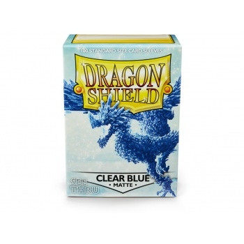 Dragon Shield - Card Sleeves: Matte Clear Blue, Standard Size (100)