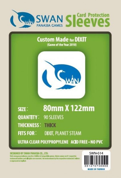 SWAN Sleeves - 80mm X 122mm, thick (90)