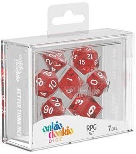 Oakie Doakie Dice - RPG Set Speckled Red (7)