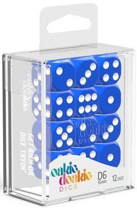 Oakie Doakie Dice - D6 16mm Solid Blue (12)