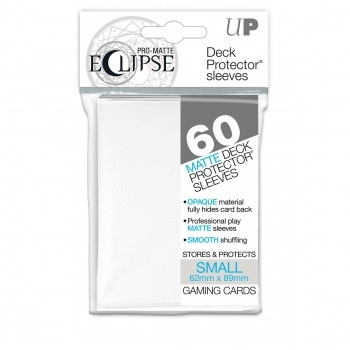 Deck Protector Sleeves - Pro-Matte Eclipse: 62x89 mm, White (60)