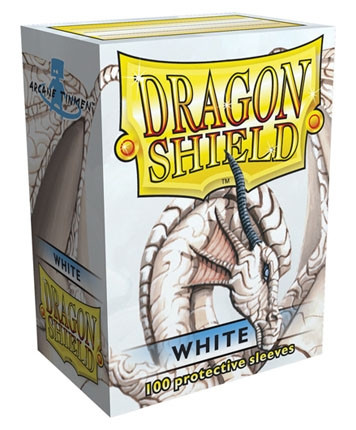 Dragon Shield - Card Sleeves: Classic White, Standard Size (100)