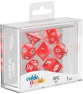 Oakie Doakie Dice - RPG Set Translucent Red (7)