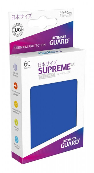 Ultimate Guard - Supreme UX Sleeves 62x89 (60), blue