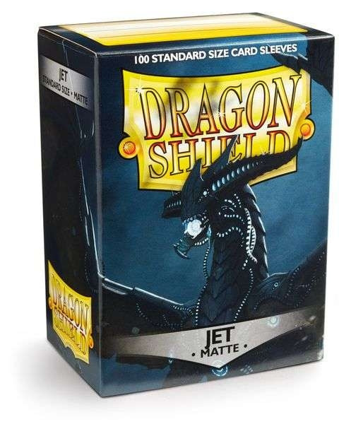 Dragon Shield - Card Sleeves: Jet Matte, Standard Size (100)
