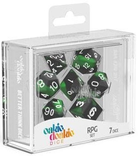 Oakie Doakie Dice - RPG Set Glow in the Dark Biohazard (7)
