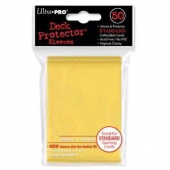 Deck Protector Sleeves - Yellow (50)