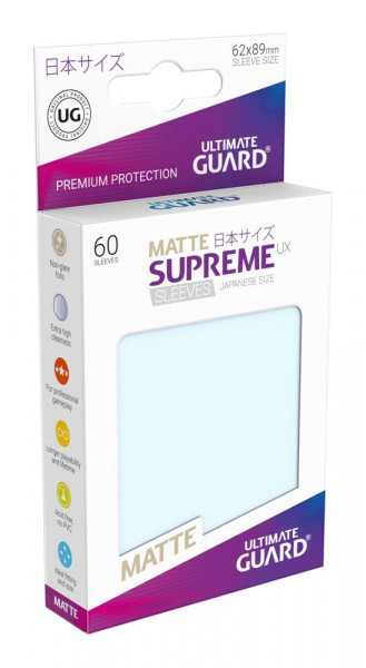 Matte Supreme UX Sleeves - 62x89 (60), transparent