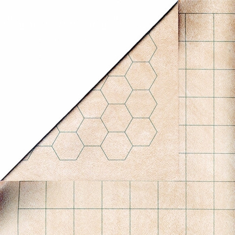 Reversible Battlemat - Double-sided (Squares & Hexes)