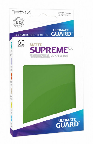 Matte Supreme UX Sleeves - 62x89 (60), green