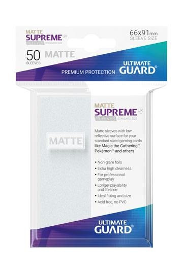 Matte Supreme UX Sleeves - 66x91 mm (50), Frosted