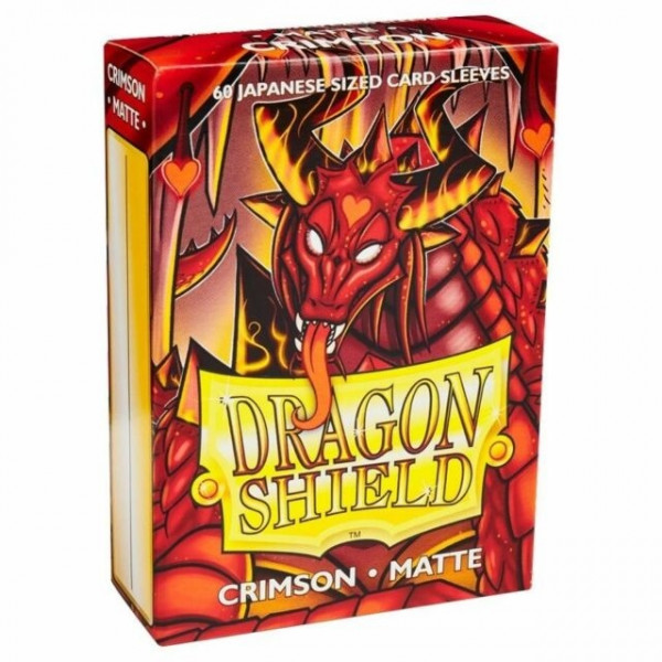 Dragon Shield - Card Sleeves: Crimson Matte, japanese Size (60)
