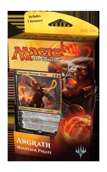 MTG - Planeswalker Deck, Rivals of Ixalan: Angrath, Minotaur Pirate (blackred)