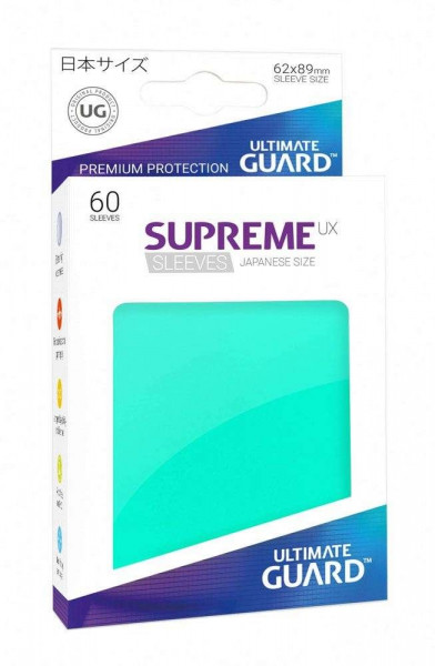 Supreme UX Sleeves - 62x89 mm (60), turquoise